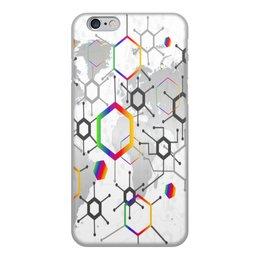 """Чехол для iPhone 6, объёмная печать """"Формула"""" - узор, текстура, формула, химия, молекулы"""