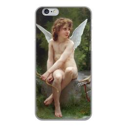 """Чехол для iPhone 6, объёмная печать """"Подстерегающая любовь (Вильям Бугро)"""" - картина, живопись, бугро"""