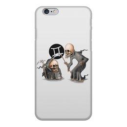 """Чехол для iPhone 6, объёмная печать """"Знаки зодиака - близнецы"""" - череп, смерть, близнецы, знак зодиака"""