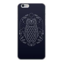 """Чехол для iPhone 6, объёмная печать """"Ночной страж"""" - ночь, сова, геометрия, минимализм, страж"""
