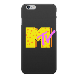 """Чехол для iPhone 6, объёмная печать """"Канал MTV"""" - mtv, мтв, канал mtv, mtv logo"""