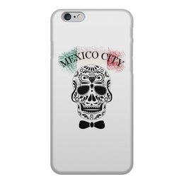 """Чехол для iPhone 6, объёмная печать """"мексиканский череп"""" - череп, узор, мексика, mexico, мехико"""