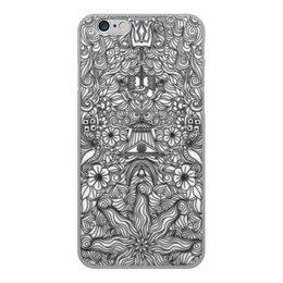 """Чехол для iPhone 6, объёмная печать """"Индийские символы в стиле мехенди"""" - символ, индия, индуизм, индийский, мехенди"""