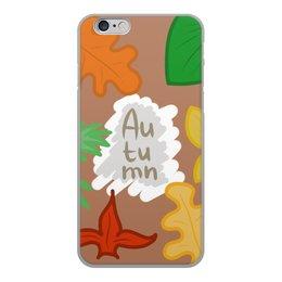 """Чехол для iPhone 6, объёмная печать """"Осень"""" - листья, осень, autumn, leaves"""