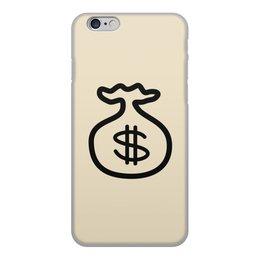"""Чехол для iPhone 6, объёмная печать """"Амулет для притягивания денег."""" - удача, бизнес, прибыль, доллары, амулет"""