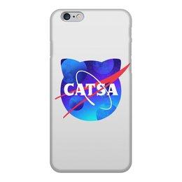 """Чехол для iPhone 6, объёмная печать """"Catsa"""" - cat, космос, nasa, наса, catsa"""