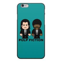 """Чехол для iPhone 6, объёмная печать """"Pulp Fiction"""" - культовое кино, тарантино, джон траволта, сэмюэл лерой джексон, криминальное чтиво"""