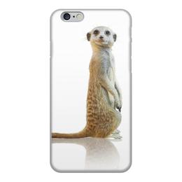 """Чехол для iPhone 6, объёмная печать """"Сурикаты"""" - сурикат, прикол, для девушек, смешной, светлый"""