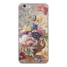 "Чехол для iPhone 6, объёмная печать ""Цветочный натюрморт (Ян ван Хёйсум)"" - цветы, картина, живопись, натюрморт, ян ван хёйсум"