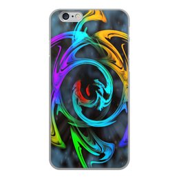 """Чехол для iPhone 6, объёмная печать """"Узор красок"""" - цветы, космос, пятна, краски, абстракция"""