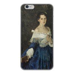 """Чехол для iPhone 6, объёмная печать """"Дама в голубом (картина Сомова)"""" - картина, портрет, живопись, модерн, сомов"""