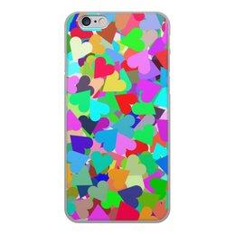 """Чехол для iPhone 6, объёмная печать """"Сотня радостных сердец """" - любовь, 14 февраля, 8 марта, орнамент, подарок"""