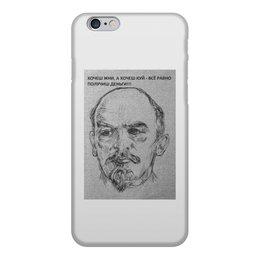 """Чехол для iPhone 6, объёмная печать """" Вождь"""" - ленин"""
