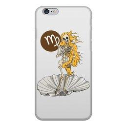 """Чехол для iPhone 6, объёмная печать """"Знаки зодиака - дева"""" - череп, скелет, смерть, дева, знак зодиака"""