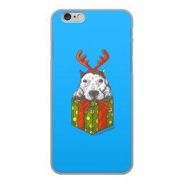 """Чехол для iPhone 6, объёмная печать """"новый год"""" - новый год, зима, собака, подарок, год собаки"""