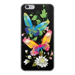 """Чехол для iPhone 6, объёмная печать """"БАБОЧКИ ФЭНТЕЗИ"""" - бабочки, цветы, стиль, красота, яркость"""