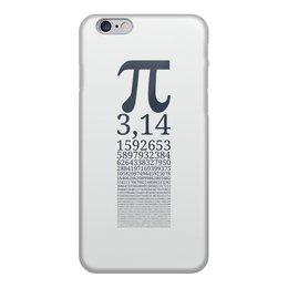 """Чехол для iPhone 6, объёмная печать """"Число Пи"""" - математика, алгебра, гик, число, пи"""