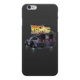 """Чехол для iPhone 6, объёмная печать """"Назад в будущее"""" - назад в будущее, машина, время"""