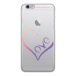 """Чехол для iPhone 6, объёмная печать """"iLove SE"""" - сердце, любовь, день святого валентина, 8 марта, подарок"""