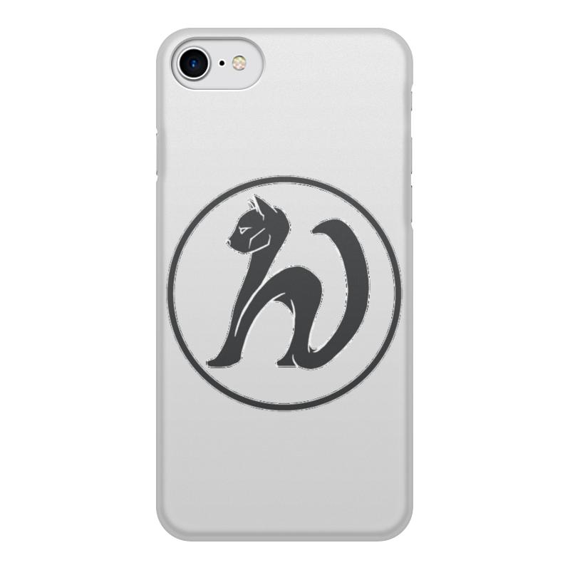 Чехол для iPhone 7, объёмная печать Printio Кошка 𝒉ν (
