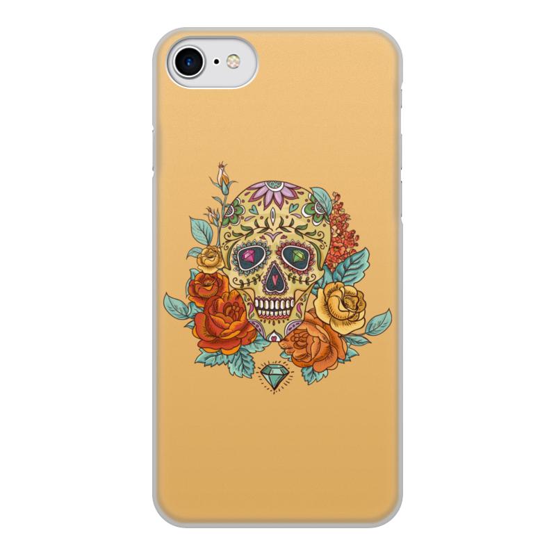 Чехол для iPhone 7, объёмная печать Printio Череп