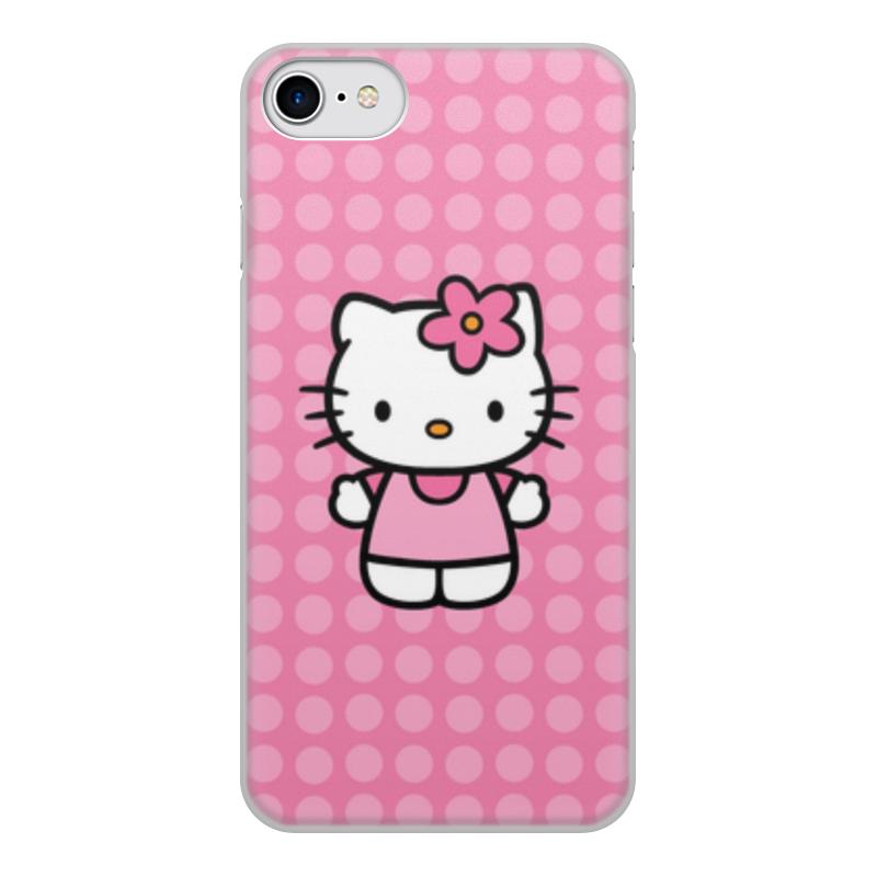 Чехол для iPhone 7, объёмная печать Printio Kitty в горошек леггинсы printio kitty в горошек