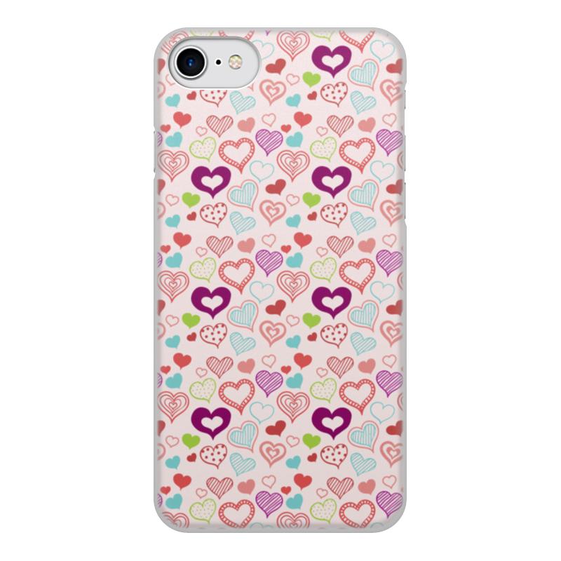 Чехол для iPhone 7, объёмная печать Printio Сердечки