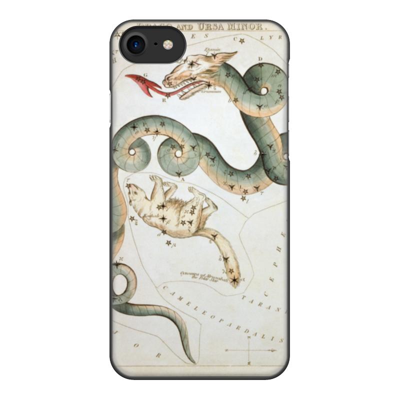 Чехол для iPhone 7, объёмная печать Printio Дракон и малая медведица (зеркало урании) кружка пивная printio созвездие гончие псы зеркало урании