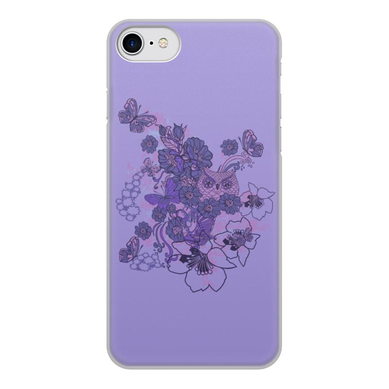 Чехол для iPhone 7, объёмная печать Printio Сова в цветах чехол для iphone 5 printio сова в цветах