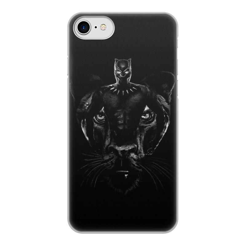 Чехол для iPhone 7, объёмная печать Printio Черная пантера цена и фото