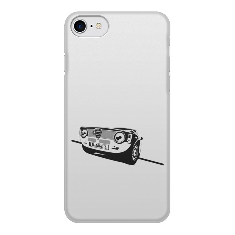 Чехол для iPhone 7, объёмная печать Printio Retro alfa romeo racing