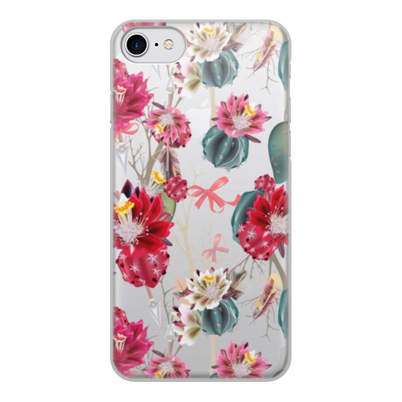 Чехол для iPhone 7, объёмная печать Printio Цветы чехол для iphone 7 объёмная печать printio цветы
