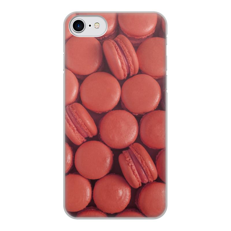 Чехол для iPhone 7, объёмная печать Printio Пирожные макаронс красные эклеры и другие домашние пирожные