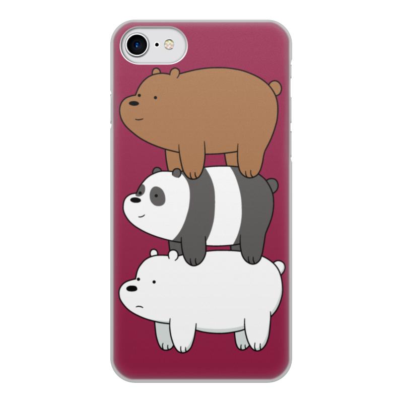 Чехол для iPhone 7, объёмная печать Printio Мы обычные медведи, we bare bears блокнот printio we bare bears