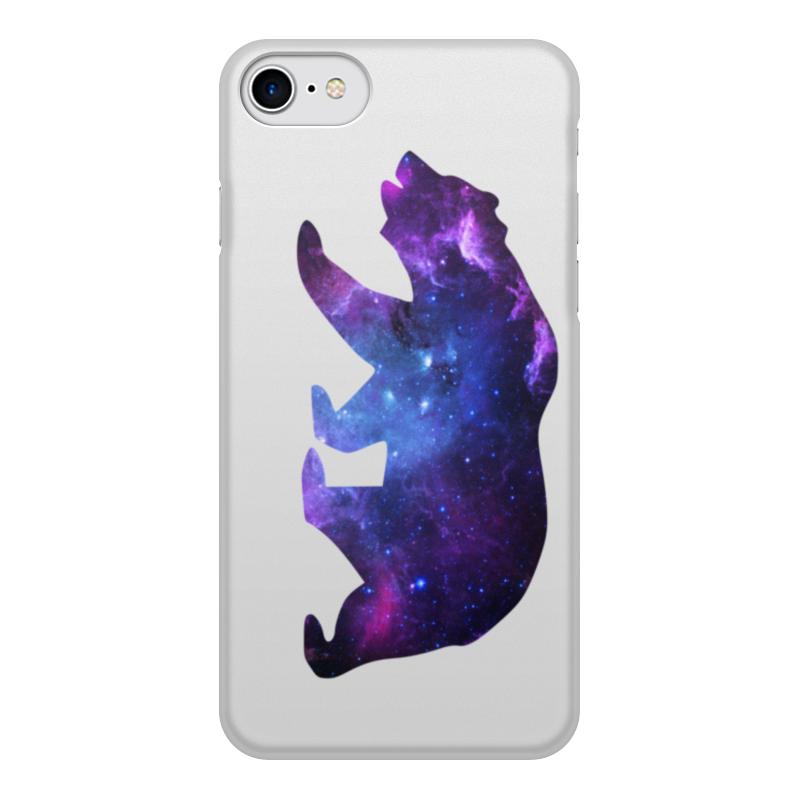 Чехол для iPhone 7, объёмная печать Printio Space animals чехол аккумулятор deppa nrg case 2600 mah для iphone 7 белый 33520