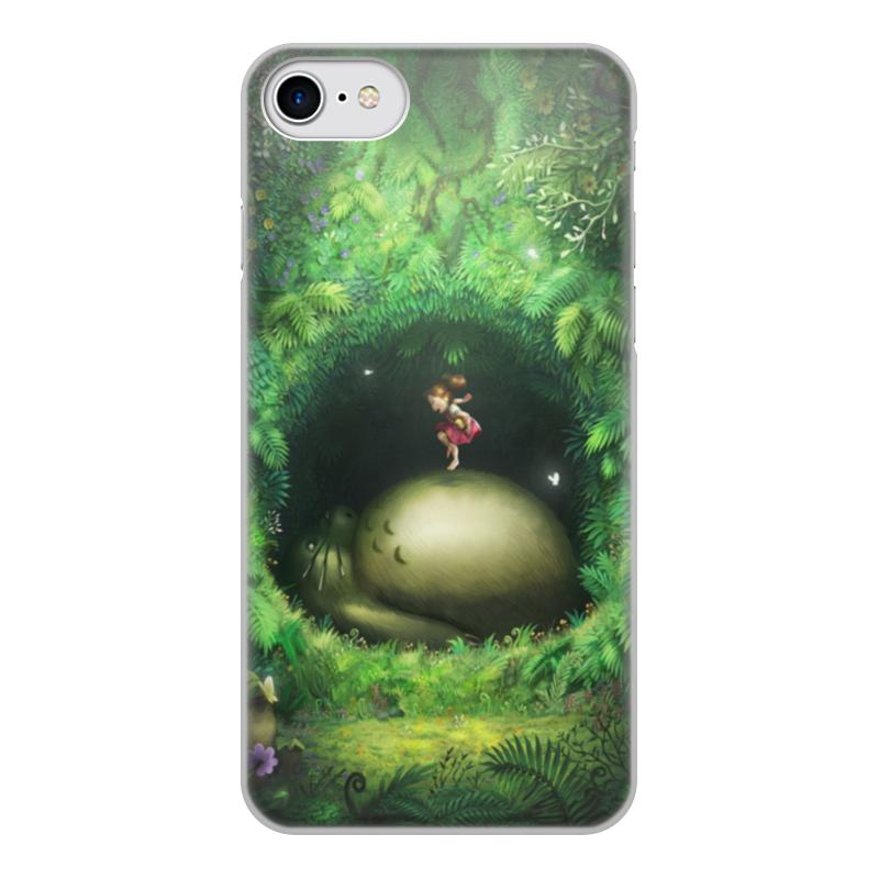 Фото - Чехол для iPhone 7, объёмная печать Printio Тоторо чехол для iphone 5 глянцевый с полной запечаткой printio deadpool vs punisher