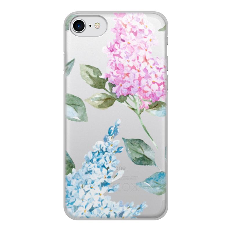Чехол для iPhone 7, объёмная печать Printio Цветы силиконовый чехол для iphone 7 ударопрочный tpu armor case прозрачный 0l 00029776