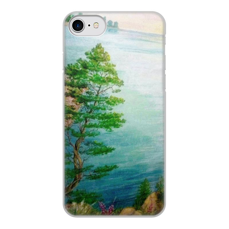 лучшая цена Чехол для iPhone 7, объёмная печать Printio Песчаный берег