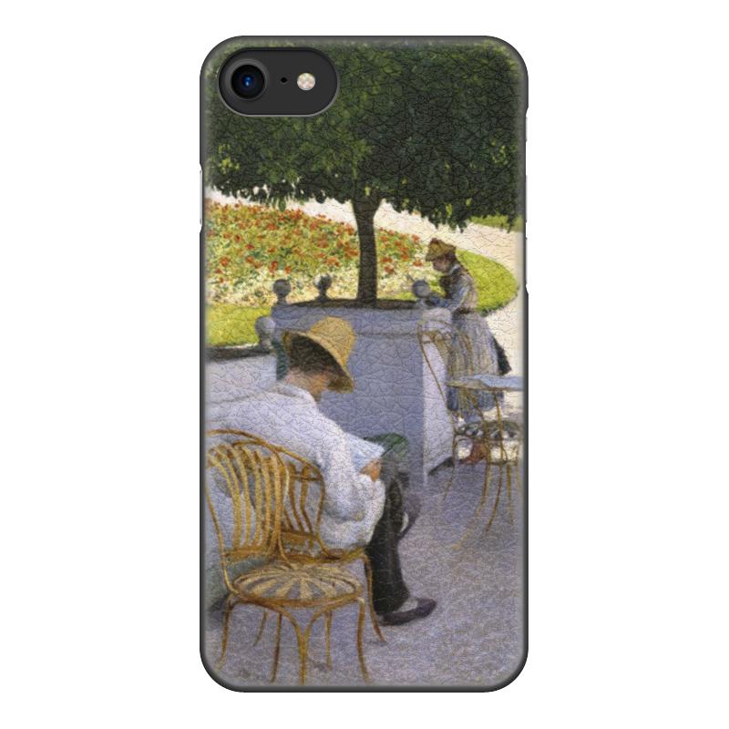 Чехол для iPhone 7, объёмная печать Printio Апельсиновые деревья (гюстав кайботт) чехол для iphone 6 глянцевый printio дама в голубом картина сомова