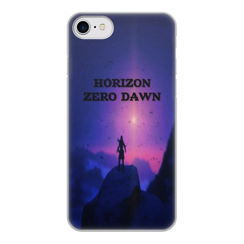 Чехол для iPhone 7, объёмная печать Printio Horizon zero dawn 0 7 мм ультра тонкий тонкий алюминиевый металлический бампер рамка чехол для iphone 5 5с