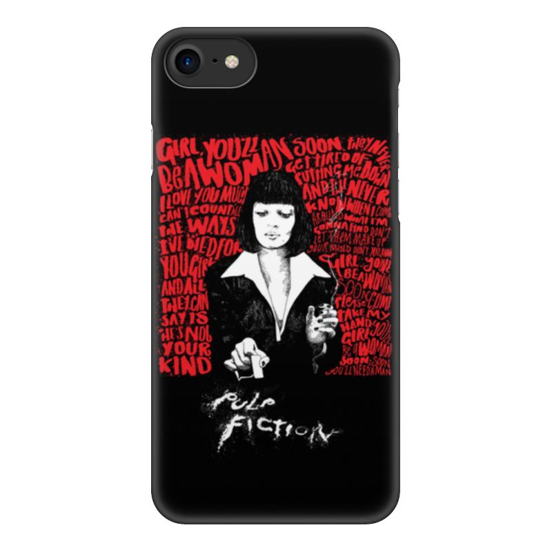 лучшая цена Чехол для iPhone 7, объёмная печать Printio Pulp fiction (ума турман)