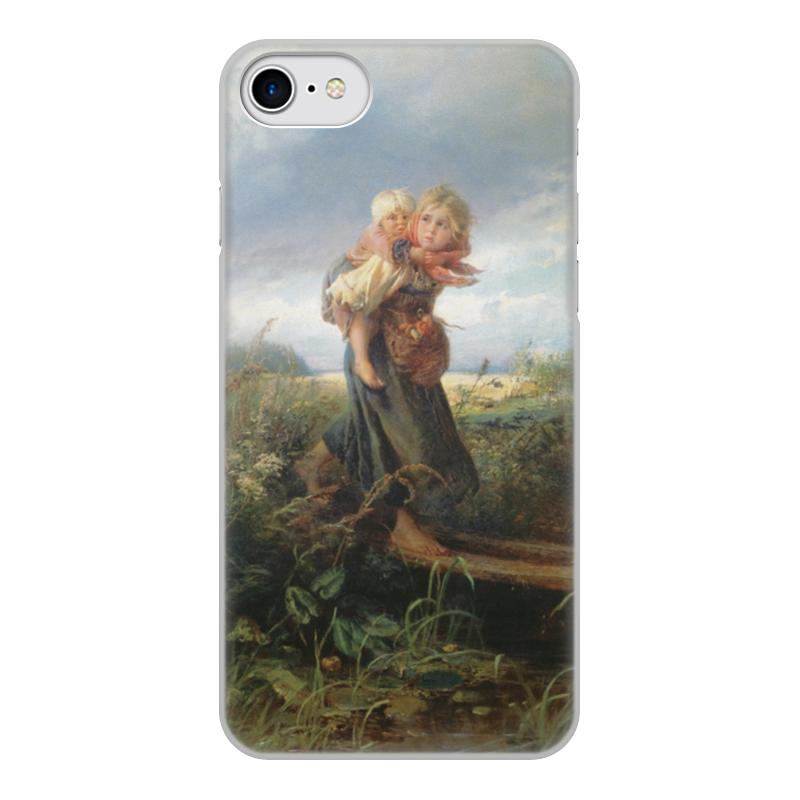 Чехол для iPhone 7, объёмная печать Printio Дети, бегущие от грозы (константин маковский) торт printio набережная в крыму константин коровин