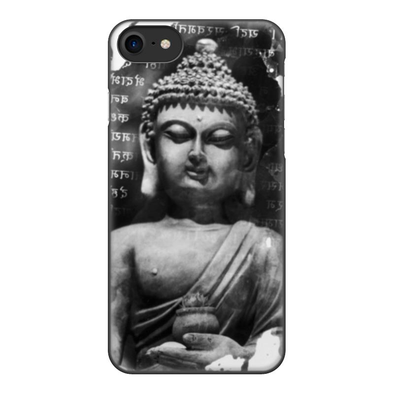 лучшая цена Чехол для iPhone 7, объёмная печать Printio Будда (письмена)