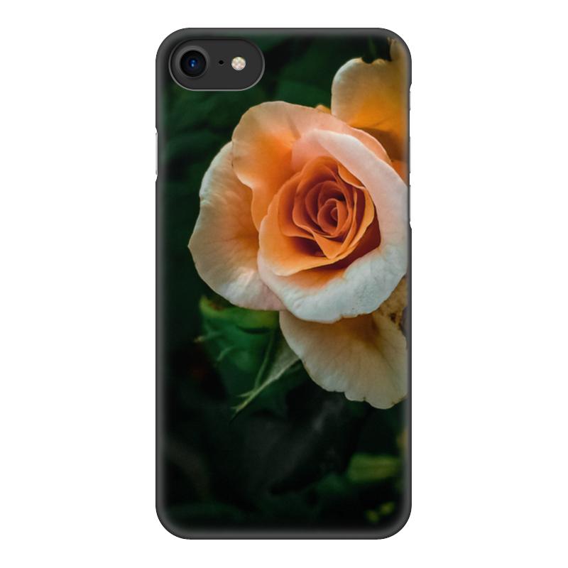 Чехол для iPhone 7, объёмная печать Printio Оранжевое лето цена 2017