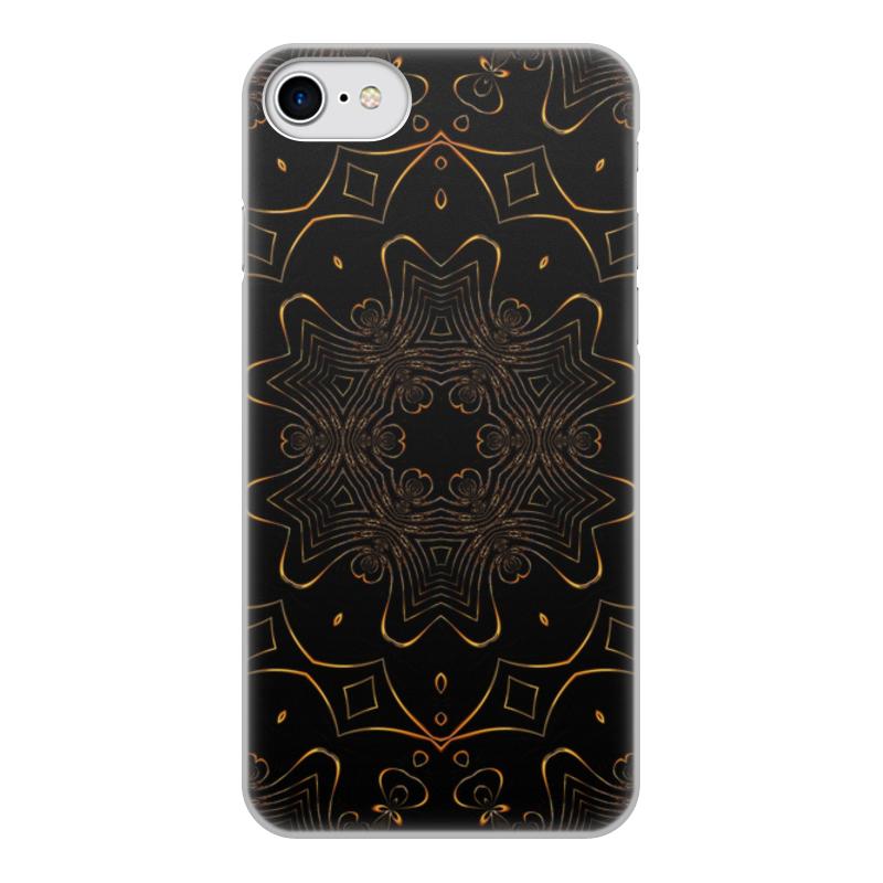 Чехол для iPhone 7, объёмная печать Printio Золотая вязь чехол для iphone 7 plus объёмная печать printio золотая роза
