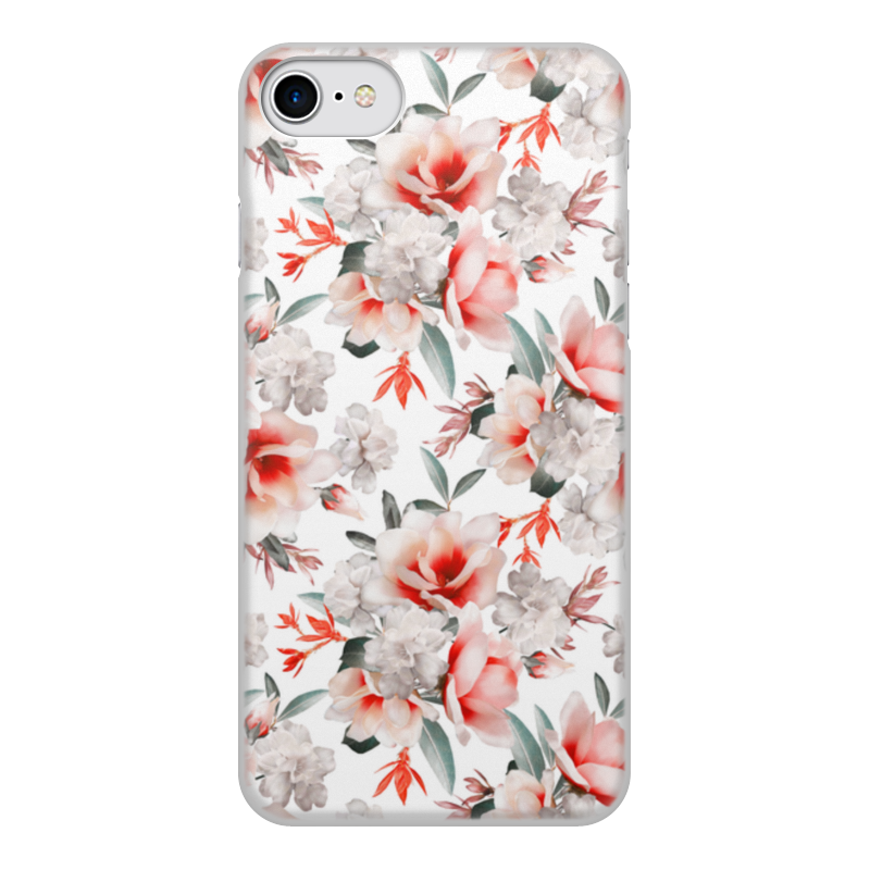 Фото - Чехол для iPhone 7, объёмная печать Printio Цветы чехол для iphone 5 глянцевый с полной запечаткой printio deadpool vs punisher