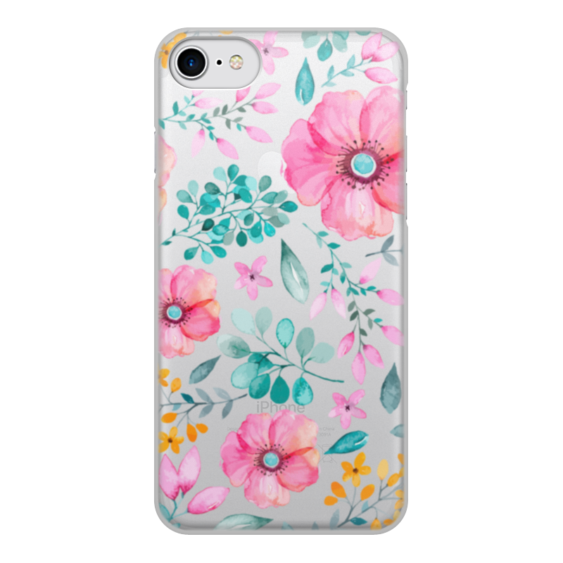 Чехол для iPhone 7, объёмная печать Printio Цветы чехол аккумулятор deppa nrg case 2600 mah для iphone 7 белый 33520