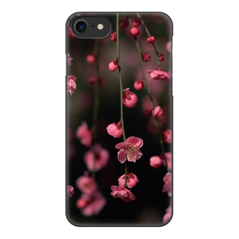 Чехол для iPhone 7, объёмная печать Printio Цветы цена 2017