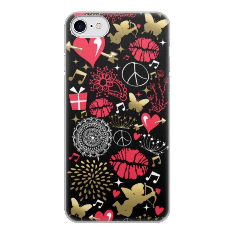 Чехол для iPhone 7, объёмная печать Printio Валентинка цена и фото