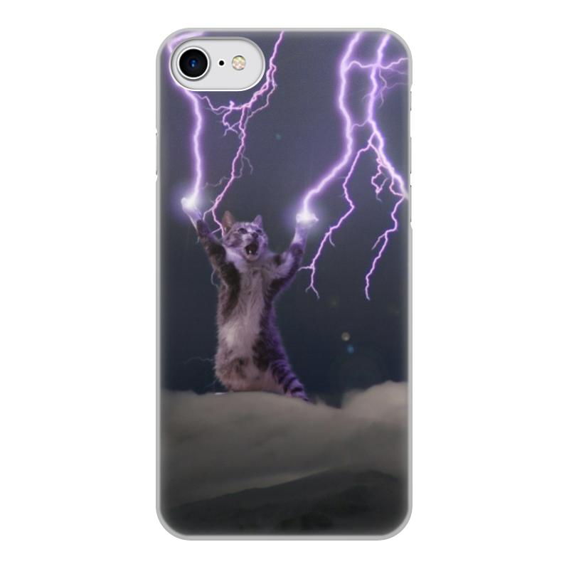 Чехол для iPhone 7, объёмная печать Printio Кот тесла чехол для iphone 7 объёмная печать printio иссиня фиолетовое небо